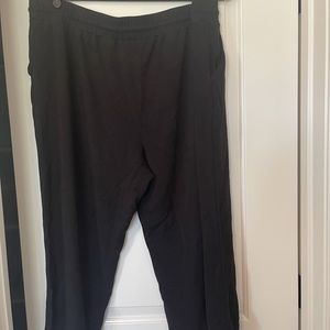 Gibson Look Cropped Straight Jogger Pants, black, 2x